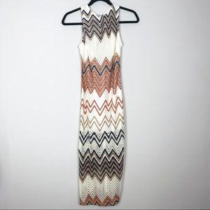 NEW Missoni Print Chevron Knit Maxi Dress